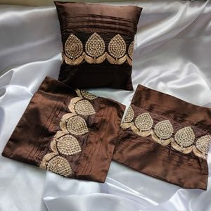 @Home set of 3 Silk cushion covers 12*12 (small)